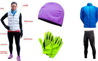 Одежда для зимнего бега: термобелье, ветровка, обувь и шапка