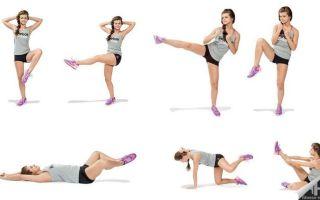 Как убрать жир с коленей, комплекс упражнений в домашних условиях