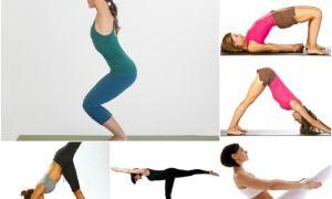 12 упражнений йоги для похудения ног и ягодиц, бедер для начинающих