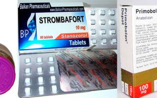 Анаболические стероиды: тренболон, станозолол, примоболан