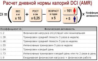 Формула расчета суточной нормы калорий, что такое калория?