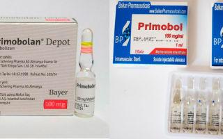 Примоболан (метенолон) как составить курс, побочные эффекты