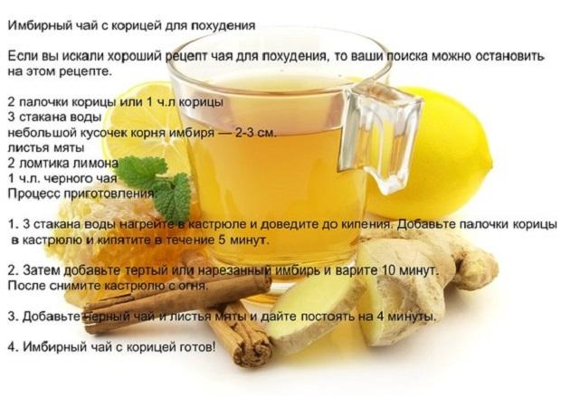 Рецепт Похудения Корень Имбиря.