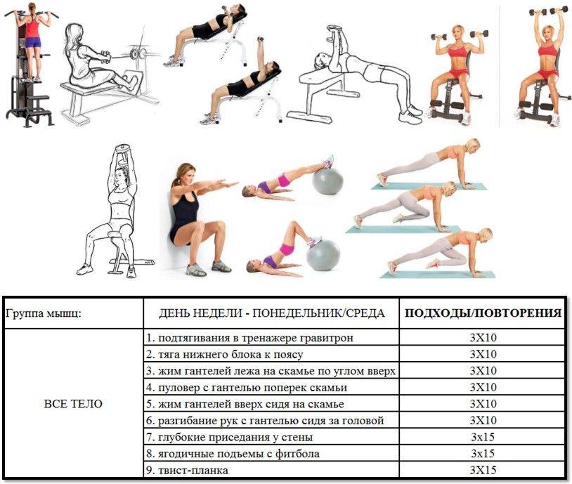 Правило тренировок в тренажерном зале для похудения