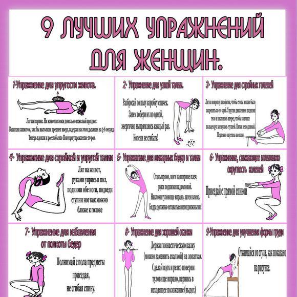 расписание домашних тренировок для похудения